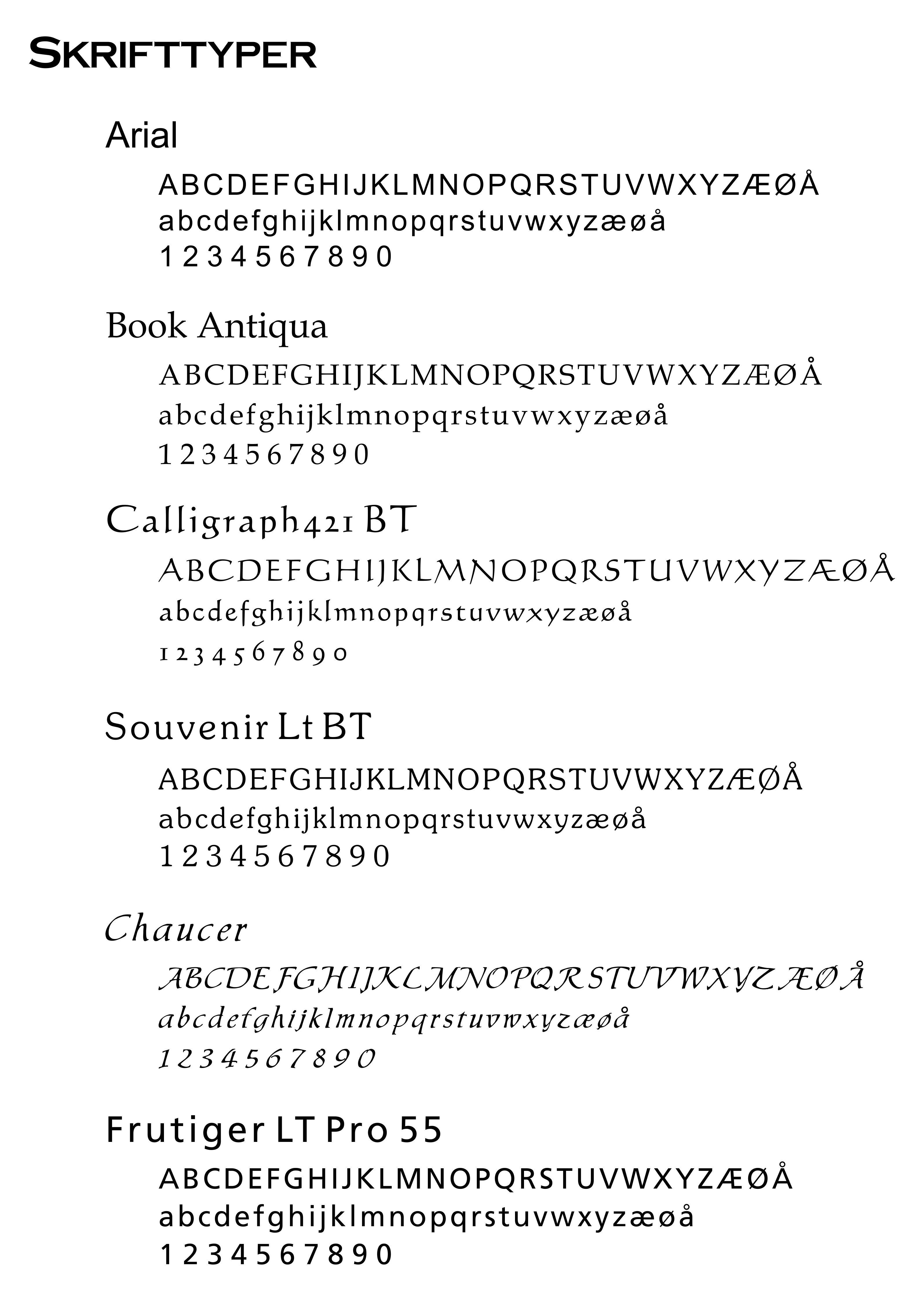 Klik her for at se skrifttyper